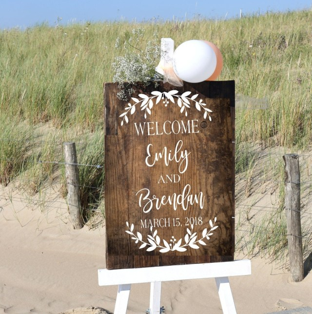 Diy Wedding Signs Wedding Welcome Sign Decal Diy Wedding Sign Decals