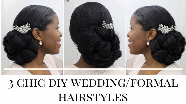 Diy Wedding Updos 3 Timeless Diy Weddingformal Hairstyles Natural Hair Misst1806