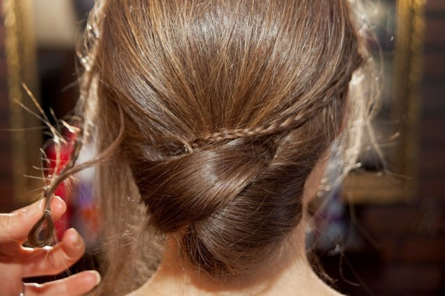Diy Wedding Updos Wedding Hairstyles Diy Low Bun With Accent Braid How To Glamour