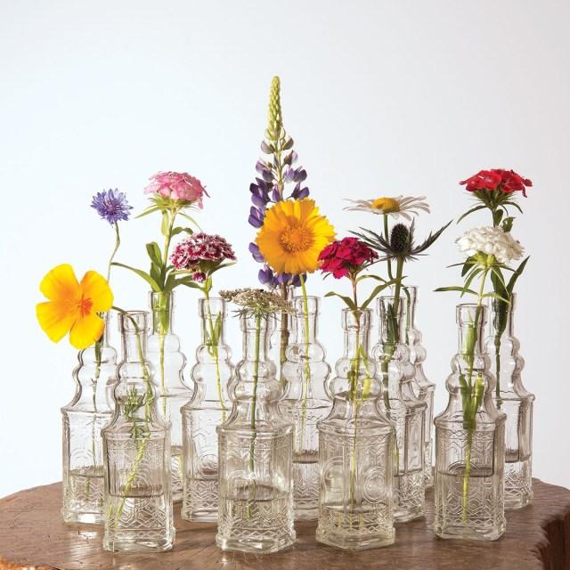 Diy Wedding Vases Bulk Pack 3 Ella Clear Vintage Glass Bottle Wedding Flower Vase