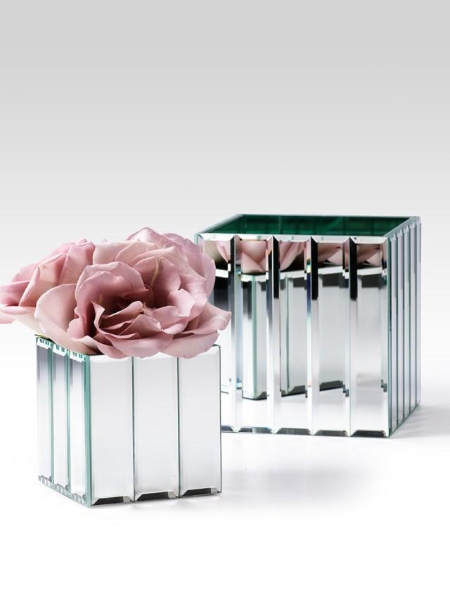 Diy Wedding Vases Mirror Strips Cube Glass Vase Wedding Event Centerpiece Containers Diy