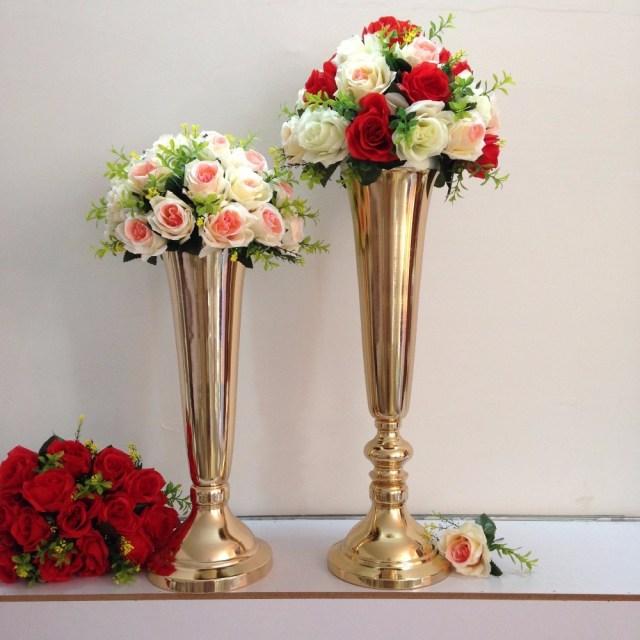 Diy Wedding Vases Silvergold Oil Sealing Flower Vaseflower Stand Wedding Decoration