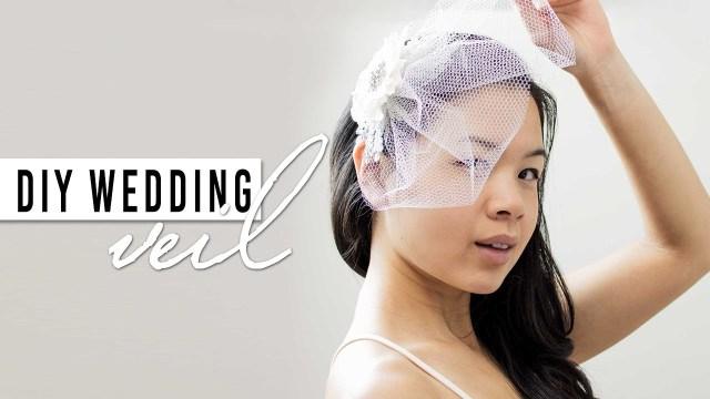 Diy Wedding Veil Diy Wedding Veil Step Step Tutorial Youtube