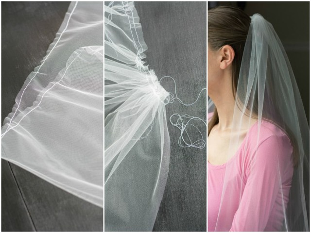 Diy Wedding Veil How To Make A Bridal Veil With A Comb How To Make A Simple Bridal
