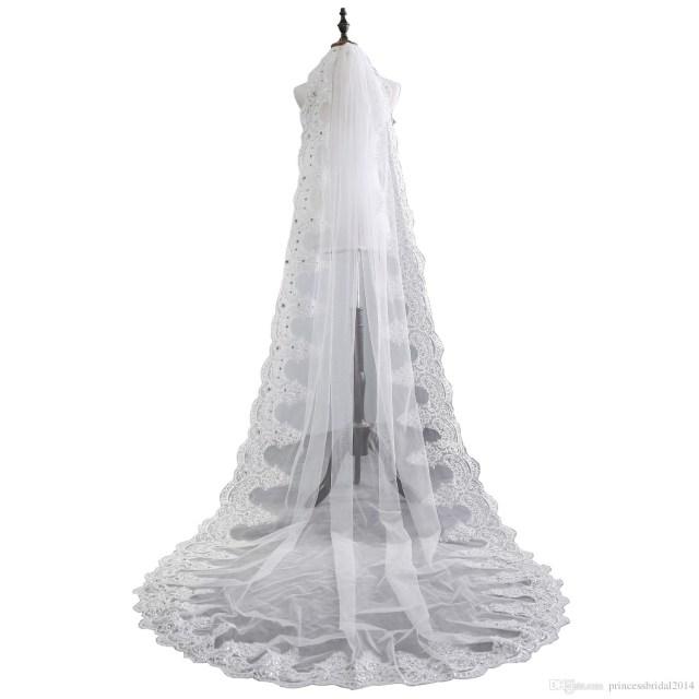 Diy Wedding Veil Zyllgf Luxury Crystal Beaded Wedding Veils 1 Tiered Lace Edge Long