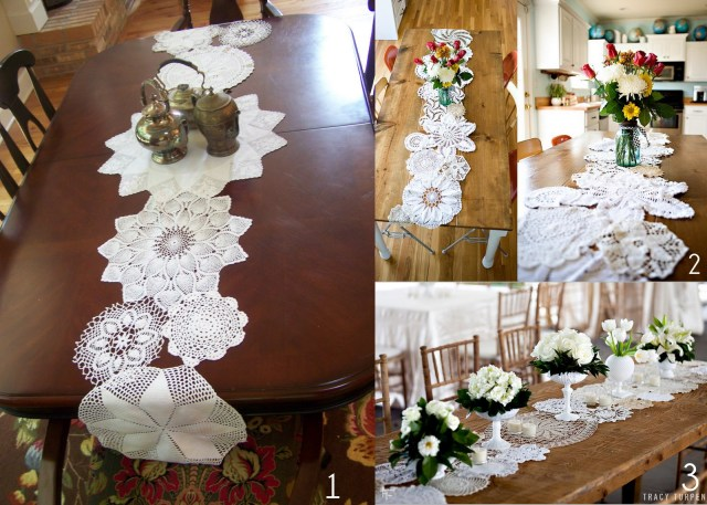 Doilie Wedding Decor Diy Or Dont Quickie Tutorial Doily Table Runner