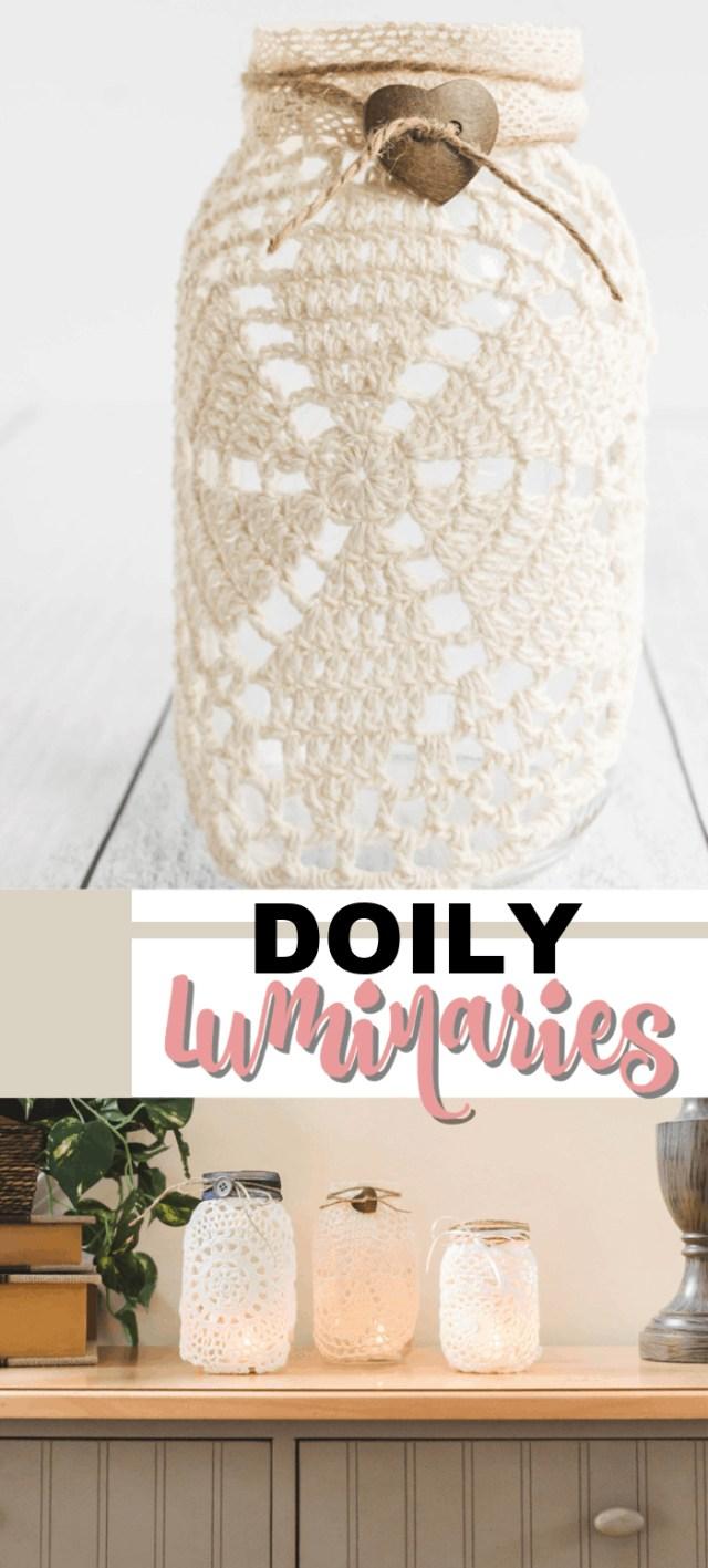 Doilie Wedding Decor Doily Luminaries Home Decor Wedding Centerpieces