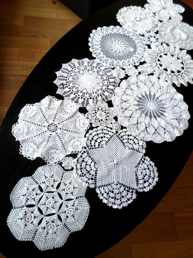 Doilie Wedding Decor New Rectangular Lace Doilies Crochet Table Runner Wedding Decor