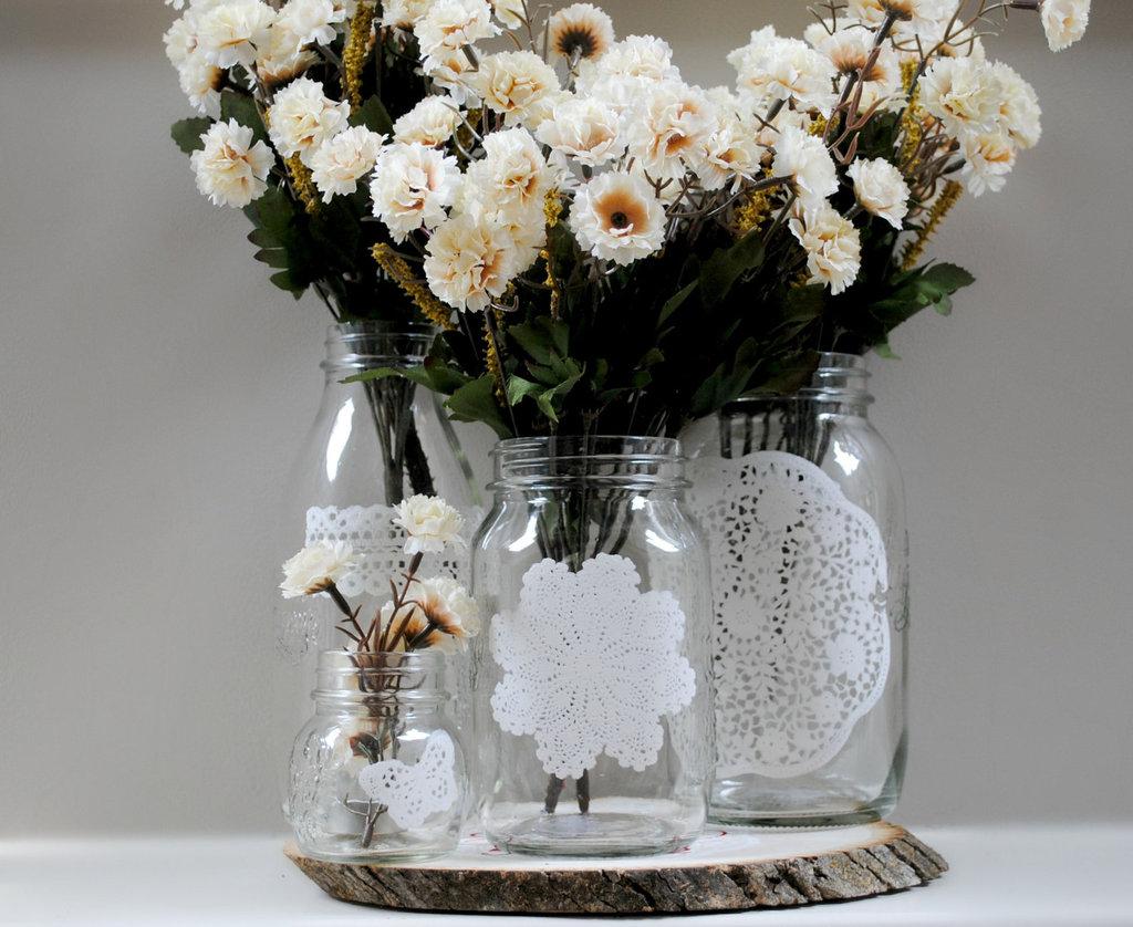 Doilie Wedding Decor Things Brides Love Mason Jar Wedding Reception Decor Centerpieces