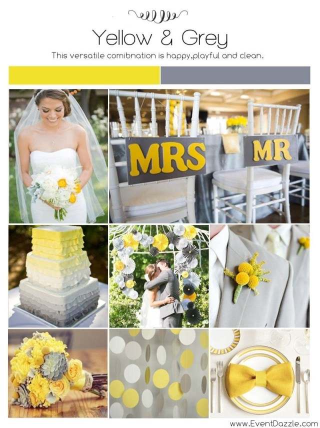Dream Wedding Ideas 10 Perfect Yellow And Grey Wedding Ideas 2019