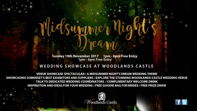 Dream Wedding Ideas A Midsummer Nights Dream Wedding Showcase Woodlands Castle