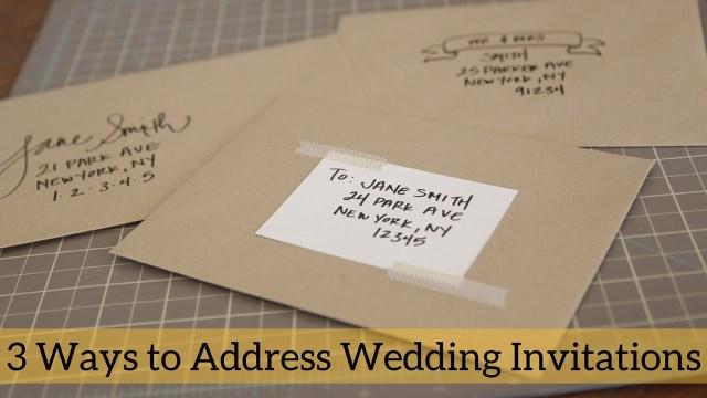 Envelopes For Wedding Invitations 3 Ways To Address Wedding Invitations Youtube
