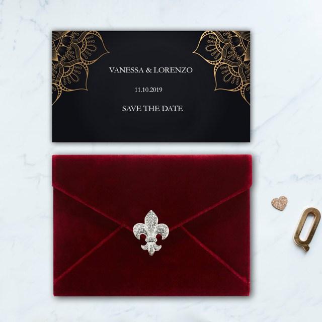 Envelopes For Wedding Invitations Red Velvet Invitation Envelope For Cards Luxury Wedding
