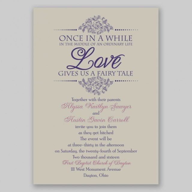 Fairytale Wedding Invitations Fairytale Wedding Invitations Fairy Tale Love Invitation Dawn