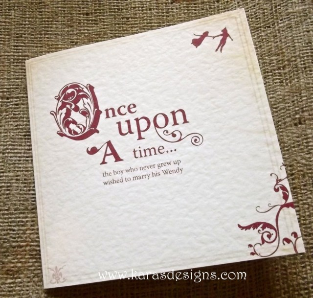 Fairytale Wedding Invitations Karas Designs Wedding Stationery Once Upon A Time Fairytale