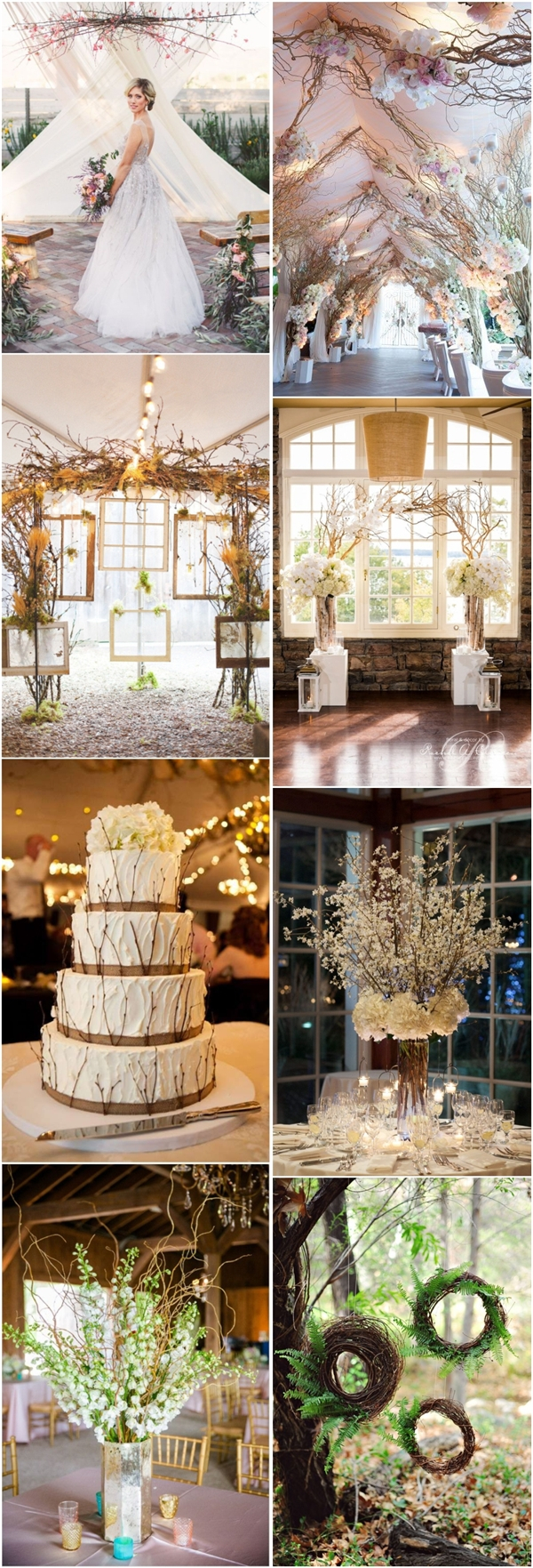 Fall Wedding Decoration Ideas 30 Chic Rustic Wedding Ideas With Tree Branches Tulle Chantilly