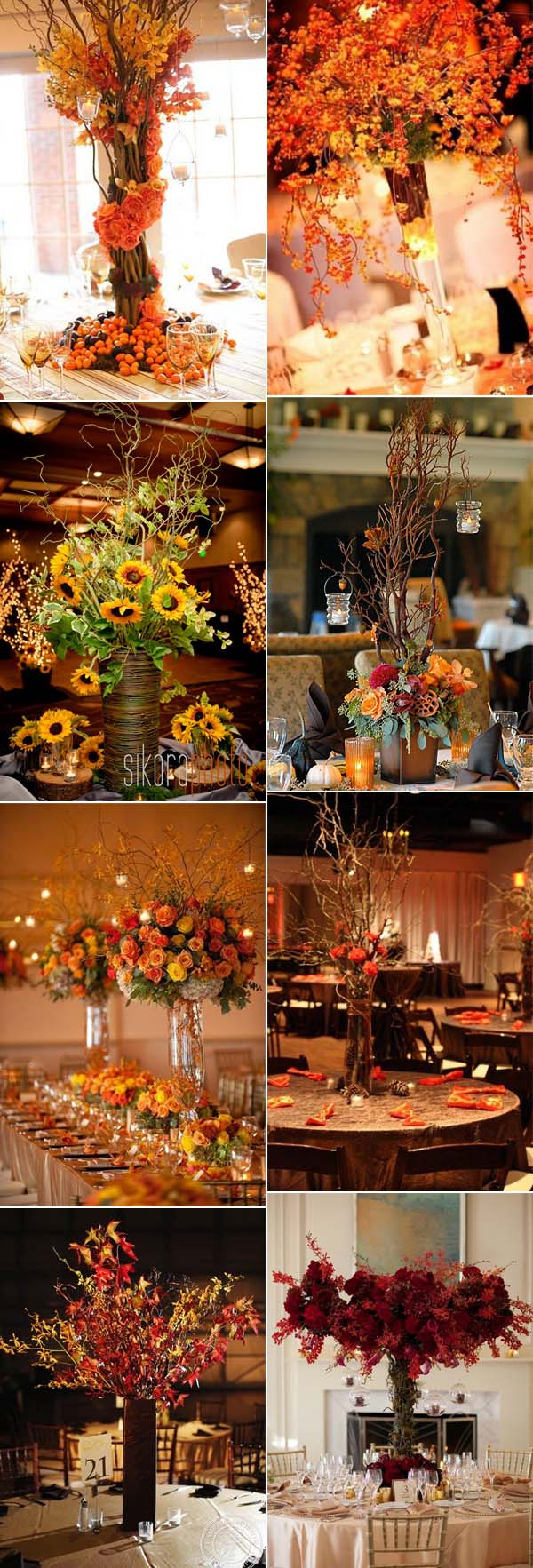 Fall Wedding Decoration Ideas 46 Inspirational Fall Autumn Wedding Centerpieces Ideas