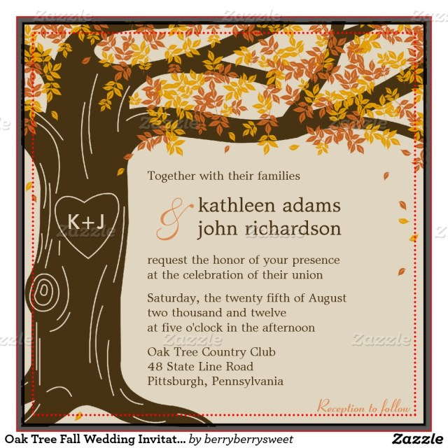 Fall Wedding Invitation Allcargos Tent Event Rentals Inc Autumn Wedding Invitations
