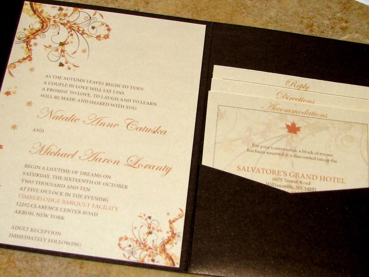 Fall Wedding Invitation Amazing Colors For Fall Wedding Invitations