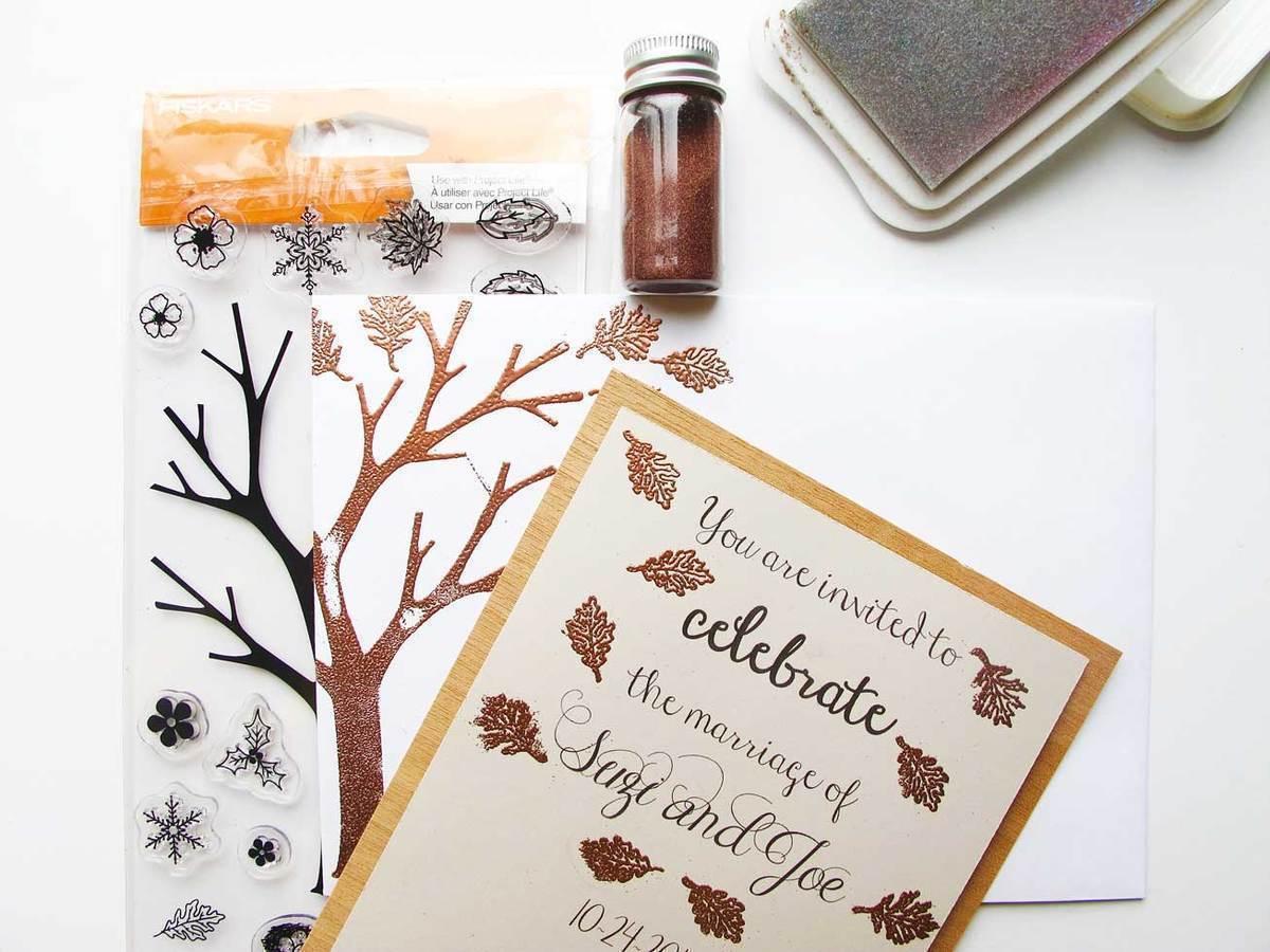 Fall Wedding Invitation Making Diy Invitations For A Fall Wedding Fiskars