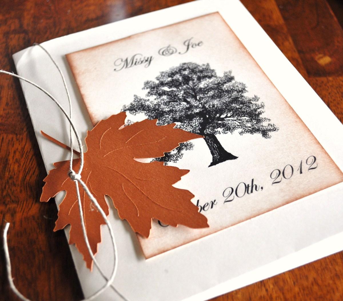 Fall Wedding Invitation Wedding Invitations Black W I