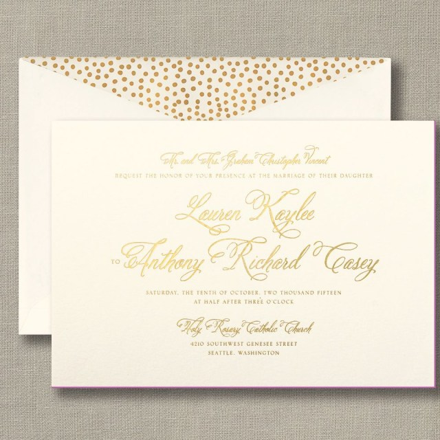 Foil Stamped Wedding Invitations Beautiful Foil Stamped Wedding Invitation Contact The Fancy