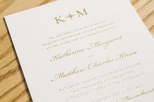 Foil Stamped Wedding Invitations Gold Foil Stamped Wedding Invitations With Seaside Style From Smock