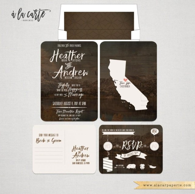 Forest Wedding Invitations Rustic Wood Forest Wedding Invitation And Rsvp Postcard Destination