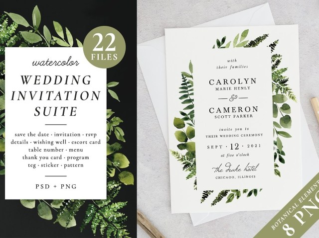 Forest Wedding Invitations Sunny Forest Wedding Invitations Invitations Dribbble Dribbble