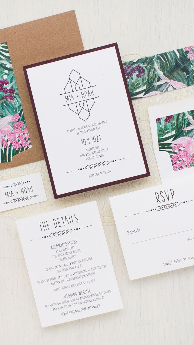 Forest Wedding Invitations Tropical Forest Wedding Invitations In 2019 Wedding Invitations