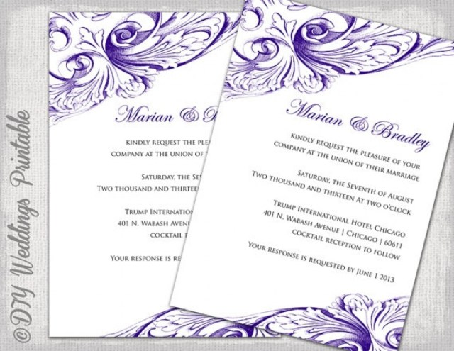 Free Printable Wedding Invitation Templates For Word Free Printable Wedding Invitation Templates Word Download Them Or