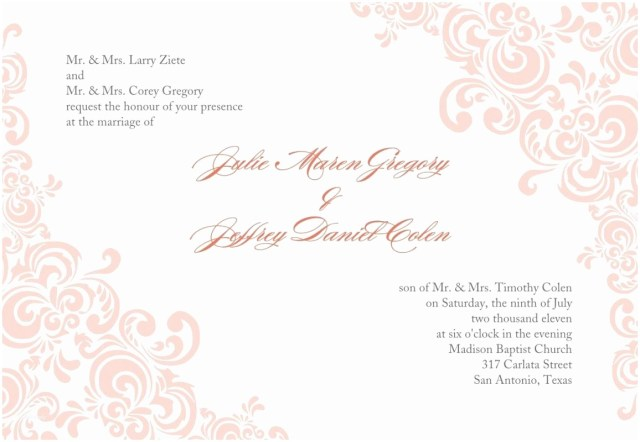 Free Printable Wedding Invitations Wedding Templates Free Download Amazing Free Wedding Invitation