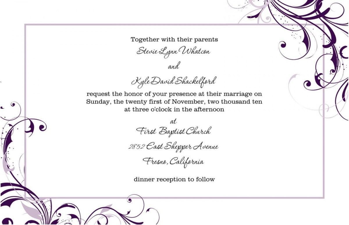 Free Wedding Invitation Templates For Word 007 Free Wedding