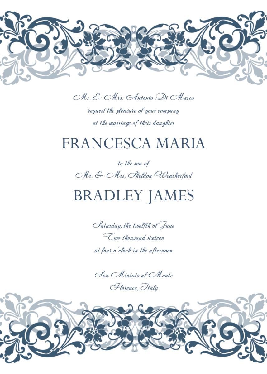 Free Wedding Invitation Templates For Word 30 Free Wedding Invitations Templates 21st Bridal World