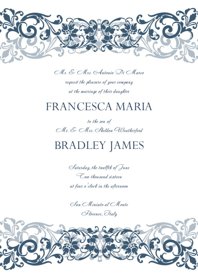 Free Wedding Invitation Templates For Word 30 Free Wedding Invitations Templates 21st Bridal World
