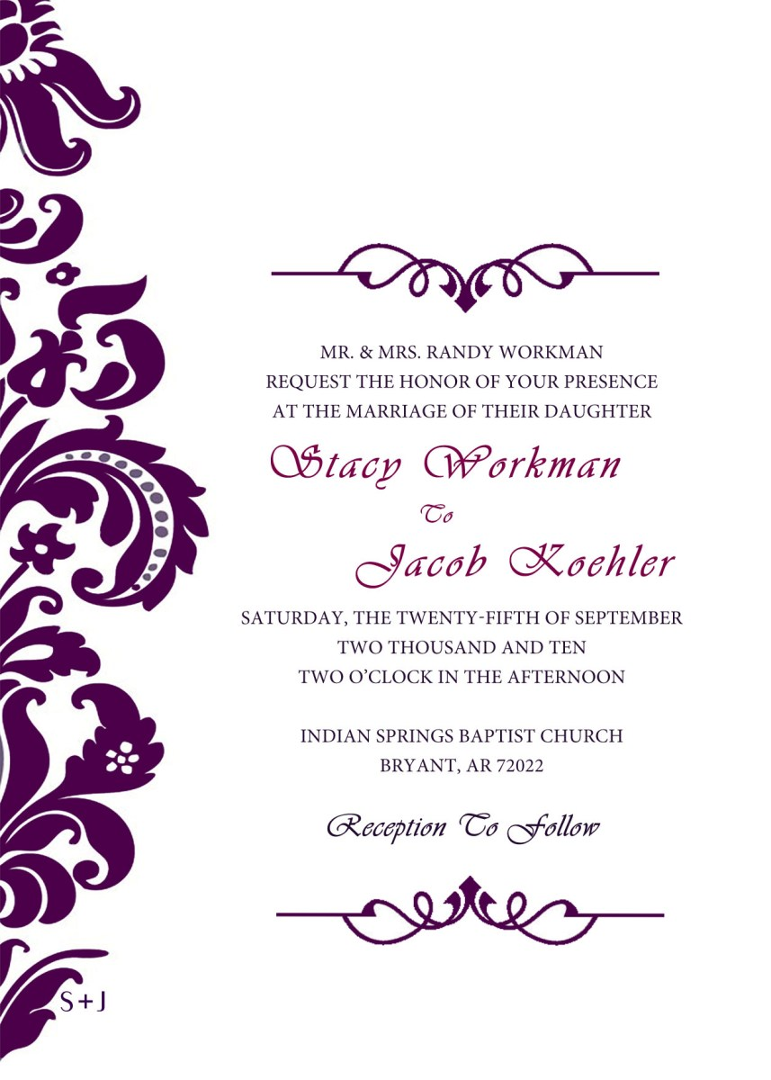Free Wedding Invitation Templates For Word Free Wedding Invitation Maker Copy Invitation Card For Wedding Maker