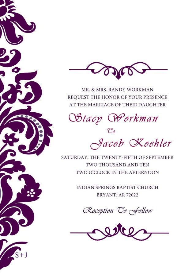 Free Wedding Invitation Templates For Word Free Wedding Invitation Maker Copy Invitation Card For Wedding Maker