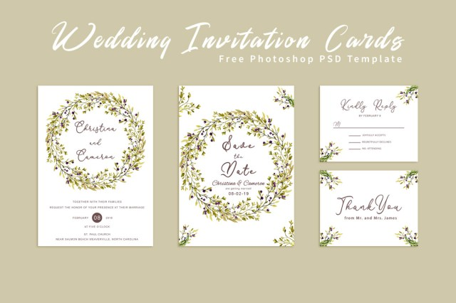 Free Wedding Invitations Free Wedding Invitation Card Creativeultra Dribbble Dribbble