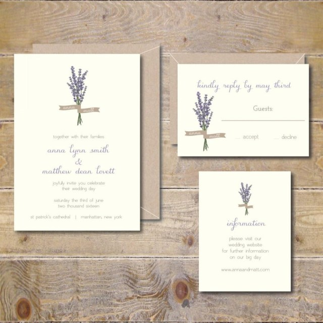 Garden Wedding Invitations Lavendar Wedding Invitations Lavendar Flowers Floral Garden