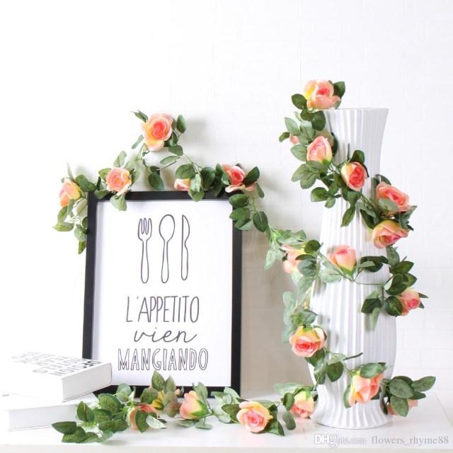 Garland Wedding Decor 2019 Wedding Decorations Artificial Flowers Silk Rose Fake Flower