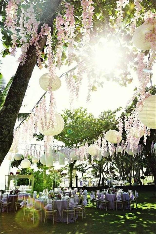 Glamorous Wedding Decorations 2019 Romantic Artificial Silk Flowers Simulation Wisteria Vine
