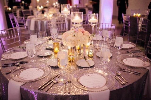 Glamourous Wedding Decor Glamorous Purple Wedding Details Chez Chicago Wedding Venue
