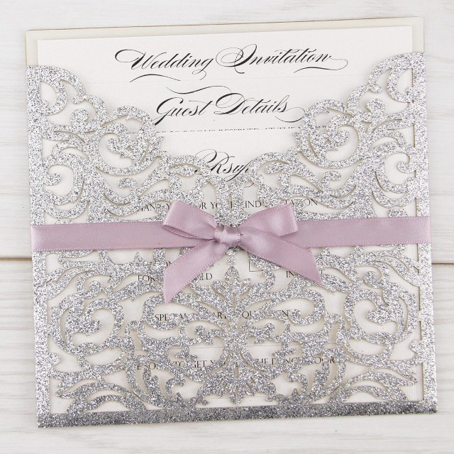 Glitter Wedding Invitations Glitter Wedding Invitations Pure Invitation Wedding Invites