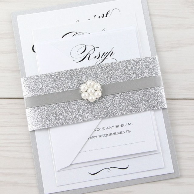 Glitter Wedding Invitations Glitter Wedding Invitations Whispering Glitter Wedding Invitation