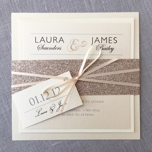 Glitter Wedding Invitations Macy Glitter Invitation Set Eaton Wedding Stationery
