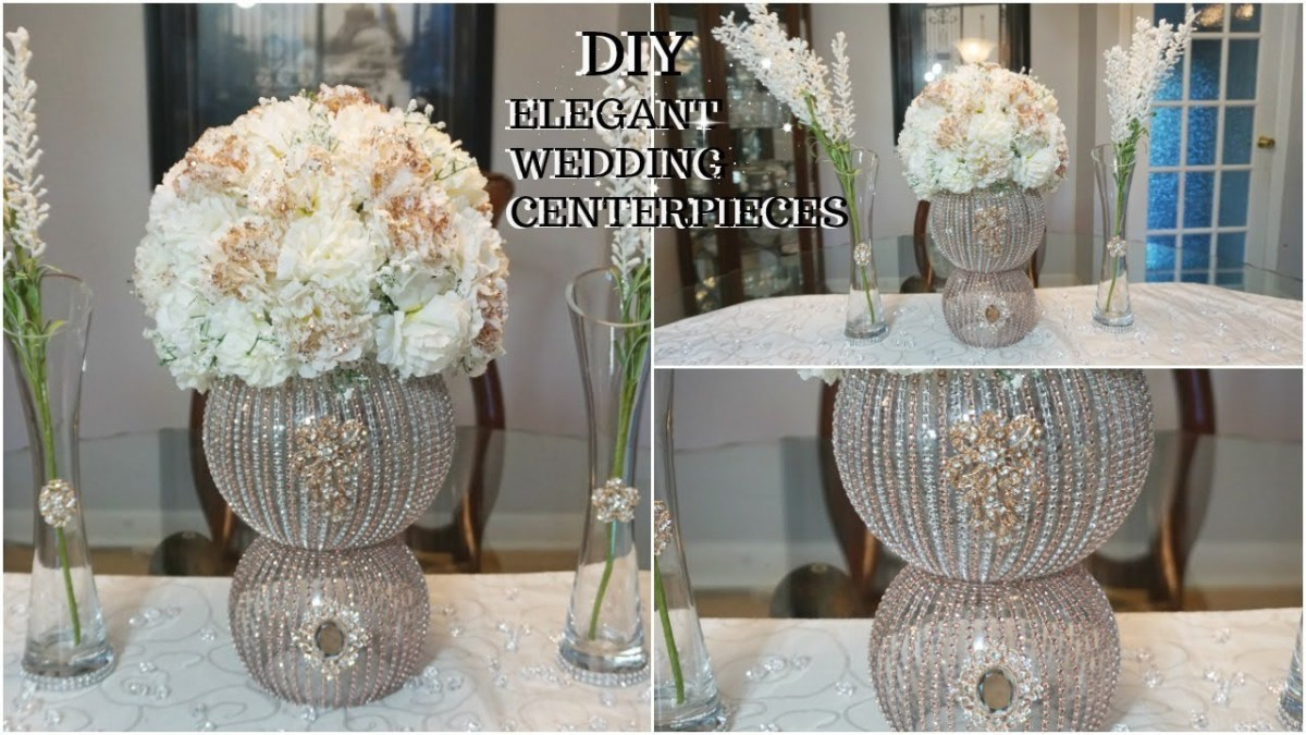 Gold Wedding Decor Diy Rose Gold Glam Wedding Centerpiece Ft Totally Dazzled Bling New
