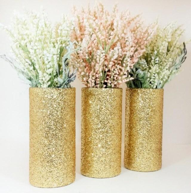 Gold Wedding Decor Wedding Centerpiece Gold Wedding Decor Cylinder Vase Black And