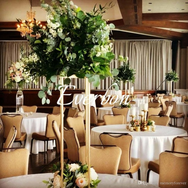 Gold Wedding Decor Wedding Decoration Flower Vase Metal Vases For Artificial Flowers
