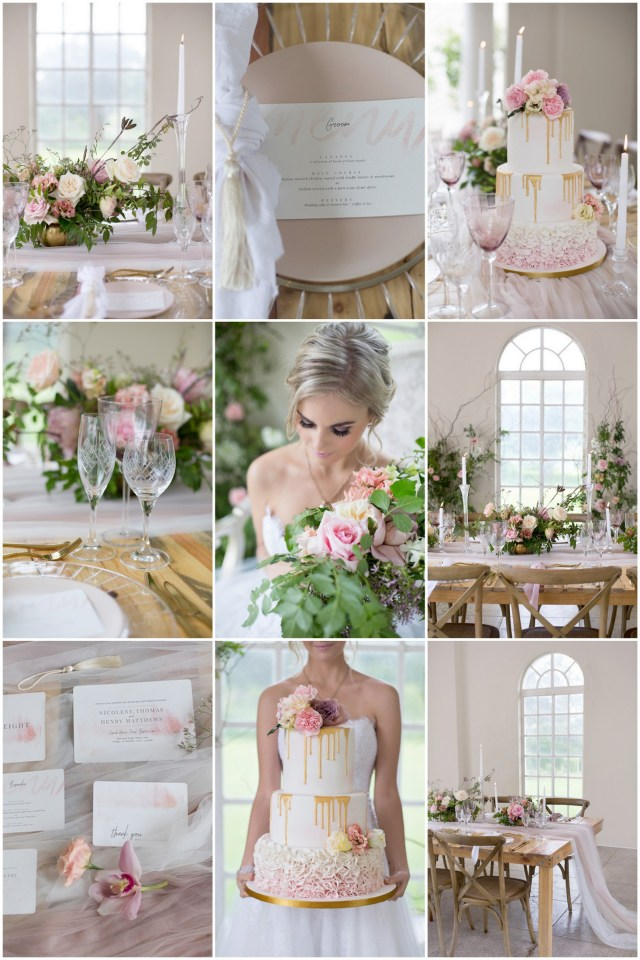 Gold Wedding Ideas Decoration Delicate Blush Ivory Gold Wedding Tablescape Ideas