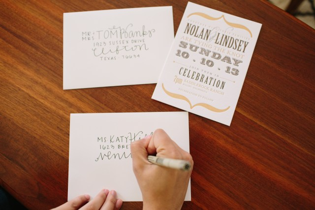 Handwritten Wedding Invitations Diy Wedding Envelope Addressing Tips Julep